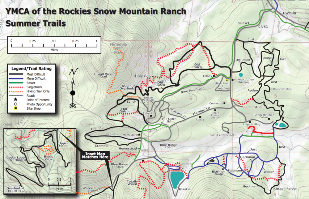 YMCA of the Rockies Snow Mountain Ranch Summer Tails. Image source: YMCA.