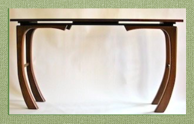 "Hall or sofa table in unique ""Ebb & Flow"" design"