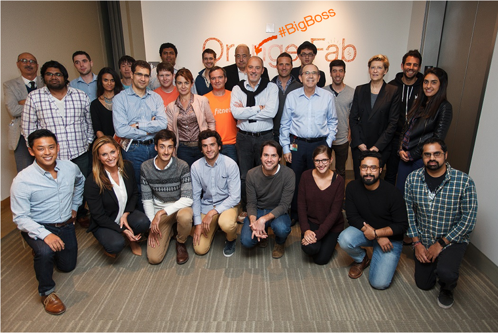 Our seven startups met with Orange CEO Stephane Richard and Orange France Executive Director Fabienne Dulac in October