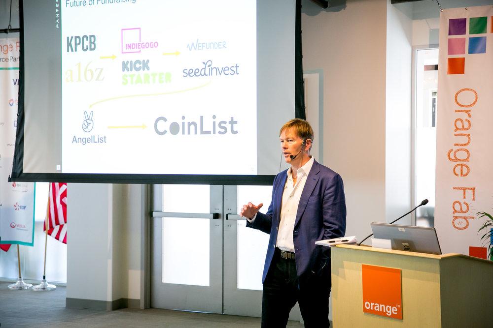 Dan Morehead of Pantera Capital during is keynote on blockchain.