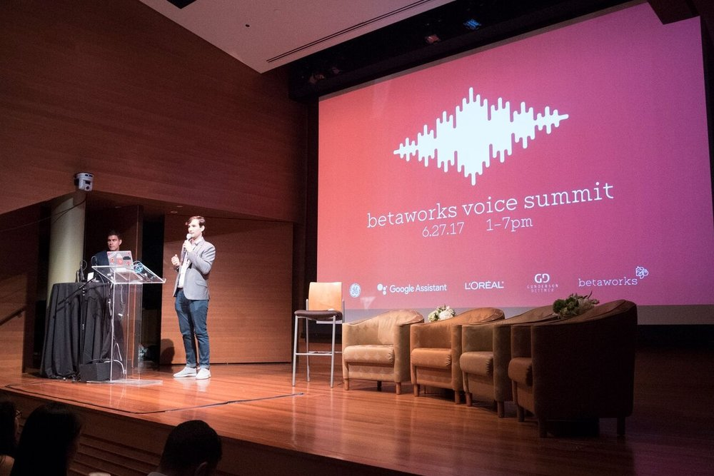 June 2017: betaworks Voicecamp with attendees from Google Assistant, GE, L'Oreal and more.