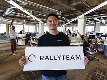 Rallyteam CTO Huan Ho at our Orange Silicon Valley office