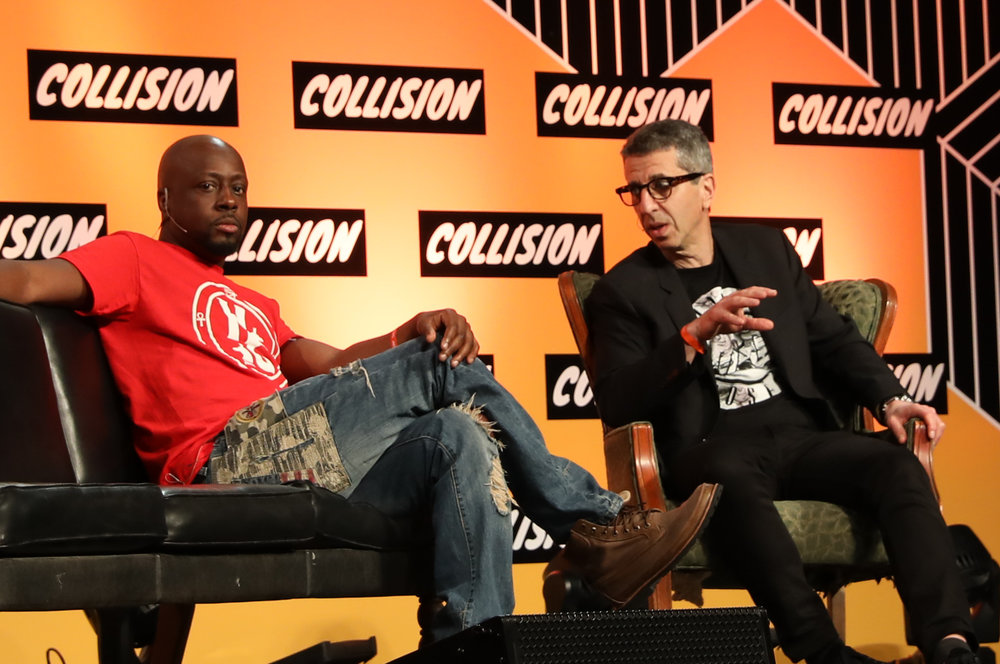 Wyclef Jean and Jason Flom
