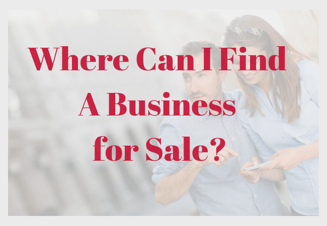 Where Can I Find A Business for Sale_