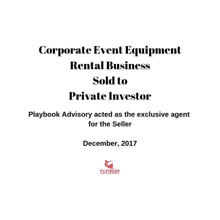 Business Sale Announcement