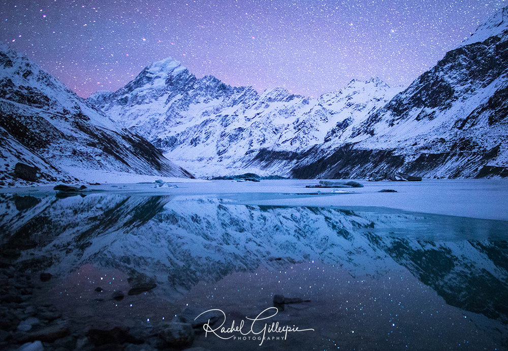 Mount Cook Night Sky Reflections, New Zealand - Image #8