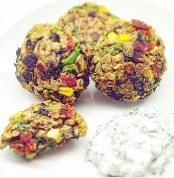 Farro and broccoli rabe patties