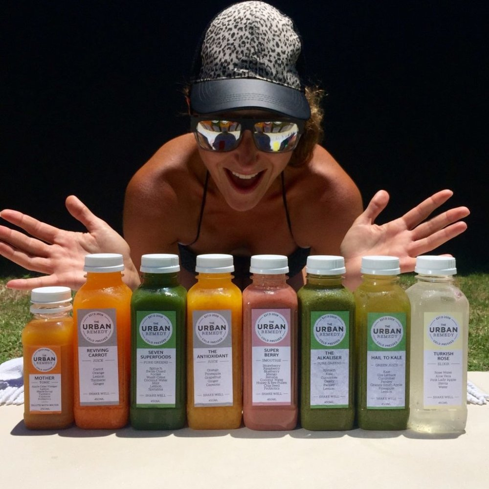 Dani Stevens juice cleanse with Urban Remedy
