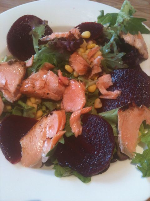 lunch+salmon