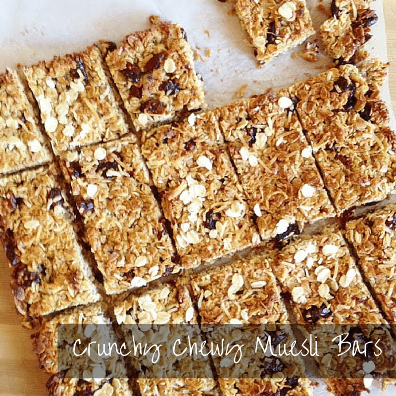 Crunchy Chewy Muesli Bars
