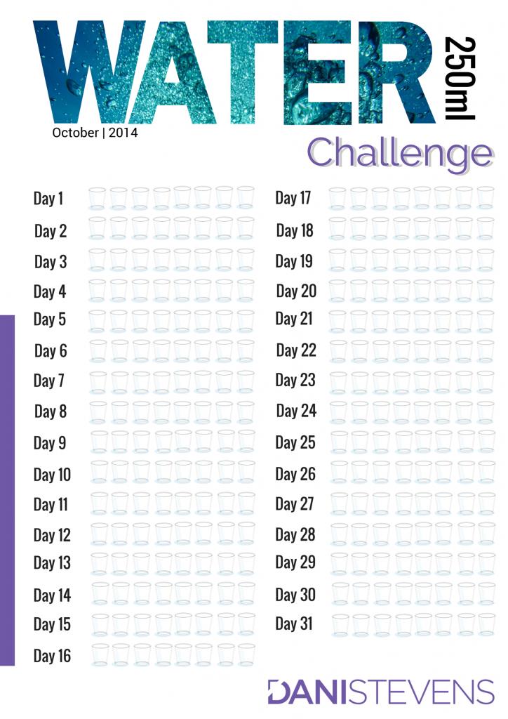 October's Water Challenge