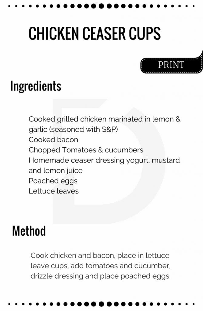 Chicken Ceaser Cups Card Image