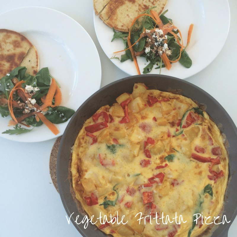 Vegetable Frittata Pizza