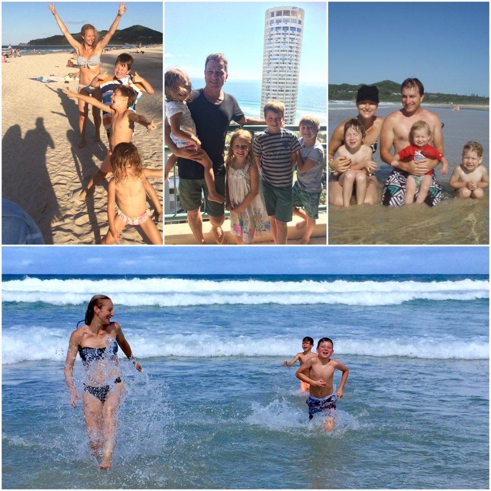 Dani Stevens life is a beach