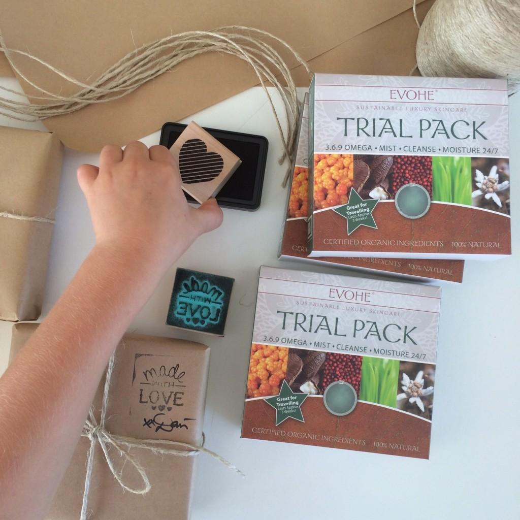Evohe trial packs for Team Dani