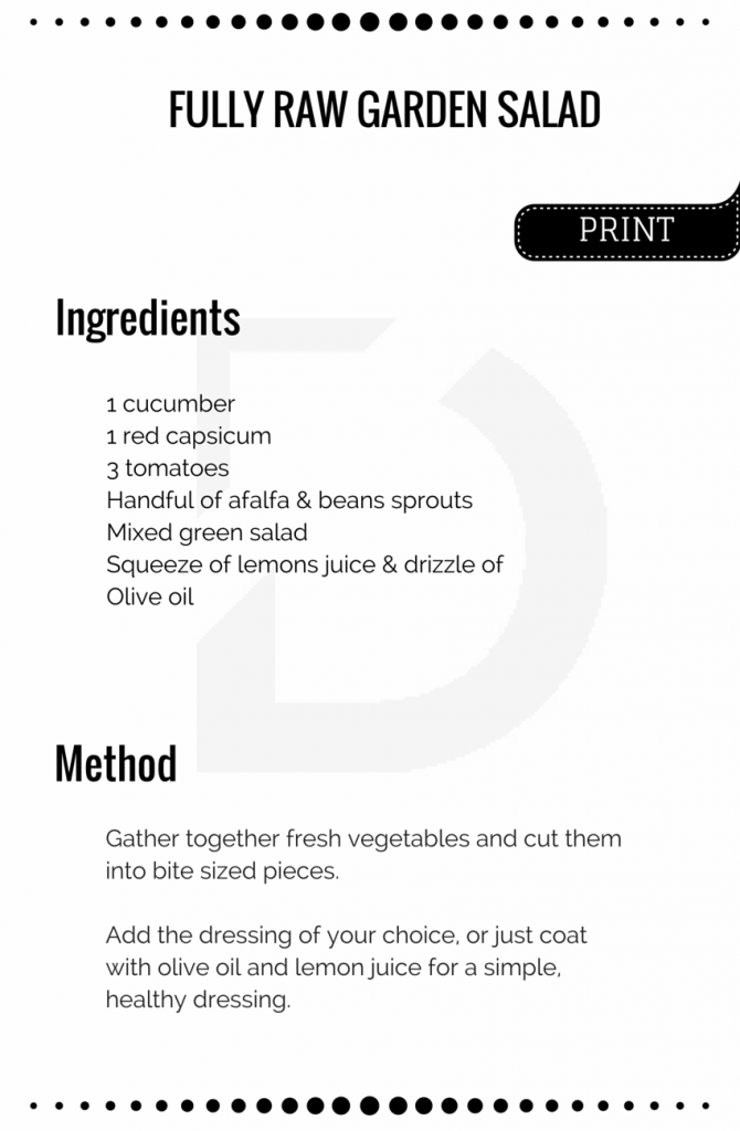 Fully raw garden salad Recipe Card