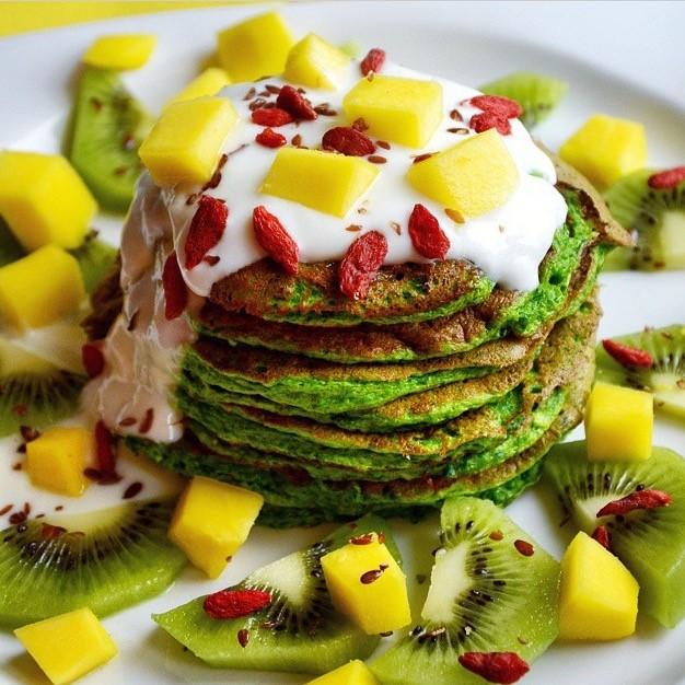 Dani Stevens Green Pancakes