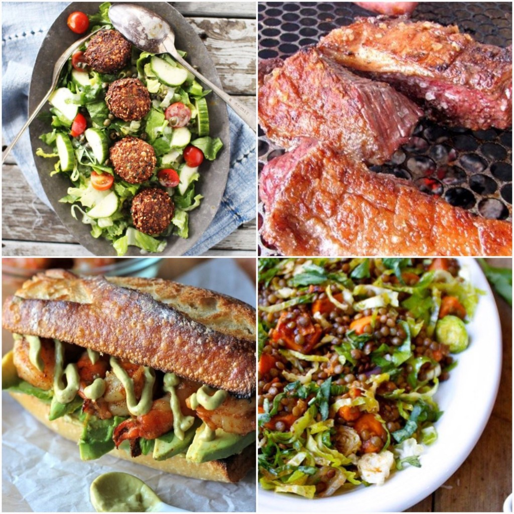Dani Stevens meat and salads