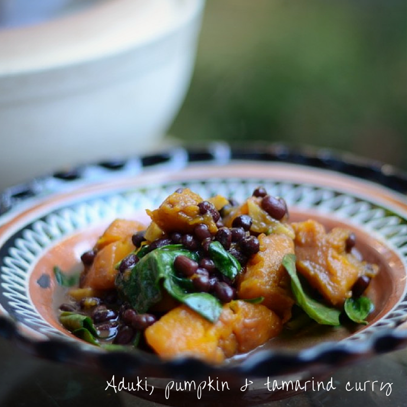 Aduki, pumpkin & tamarind curry