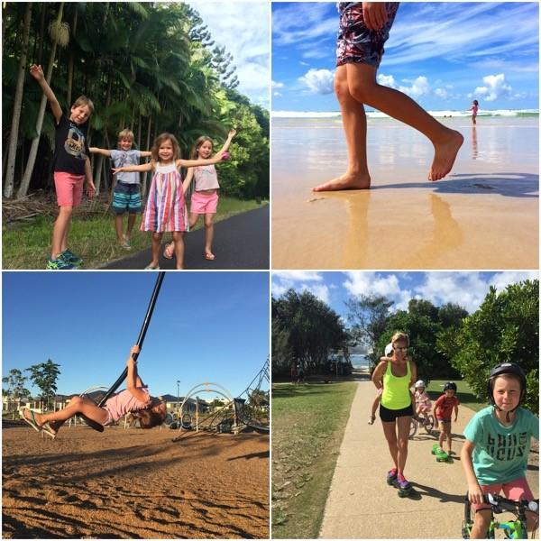 Dani Stevens family fitness fun