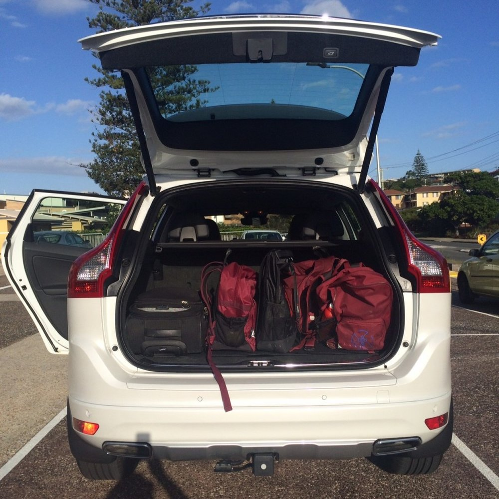 Dani Stevens VOLVO parents XC60 boot