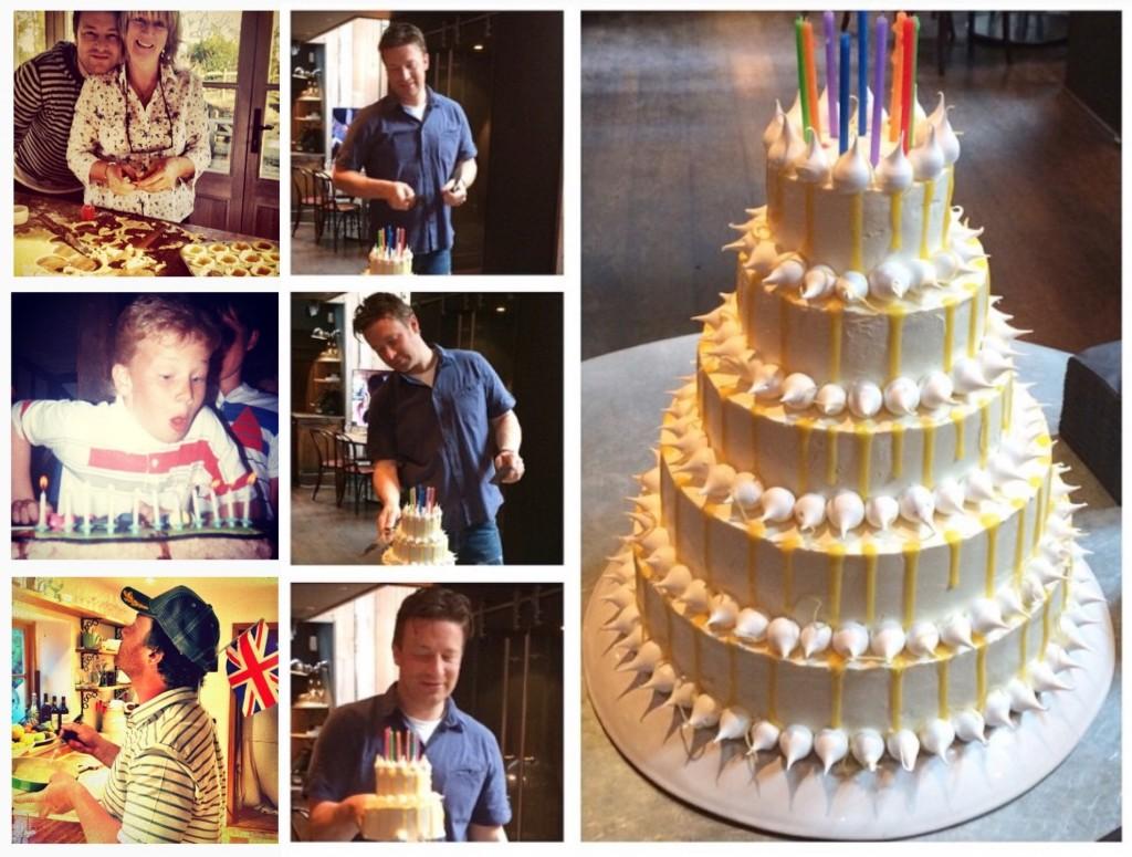 Jamie Oliver Dani Stevens 40th birthday