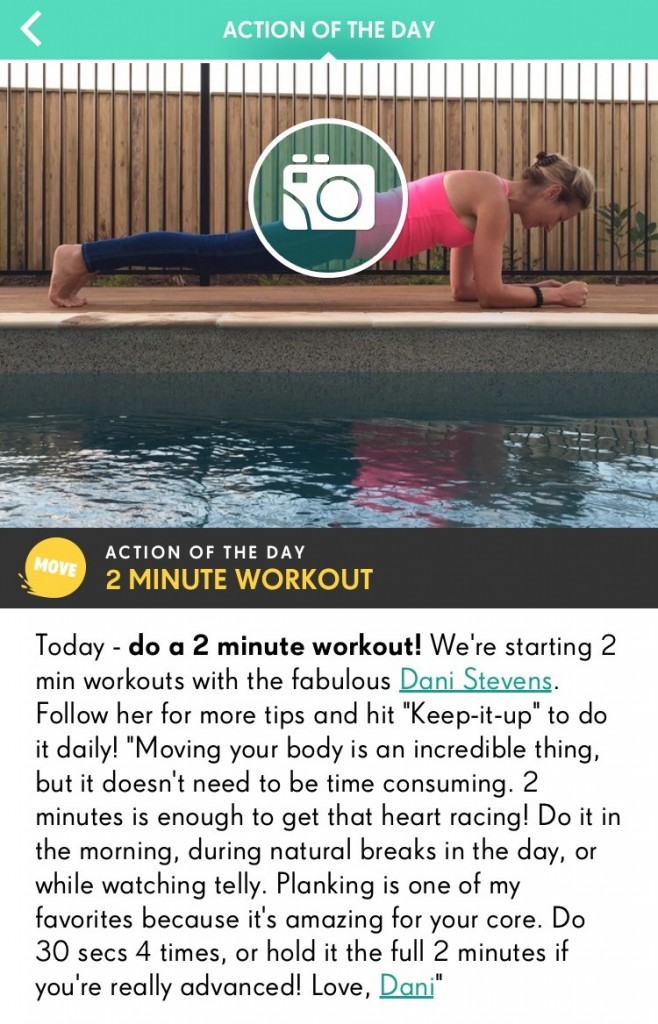 YOUapp with Jamie Oliver and Dani Stevens plank