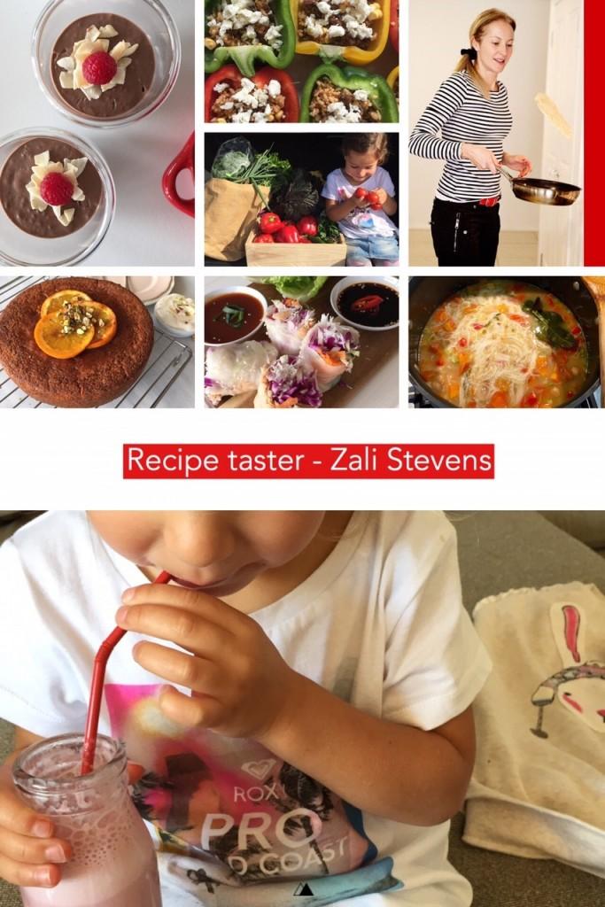 Dani Stevens recipe taster