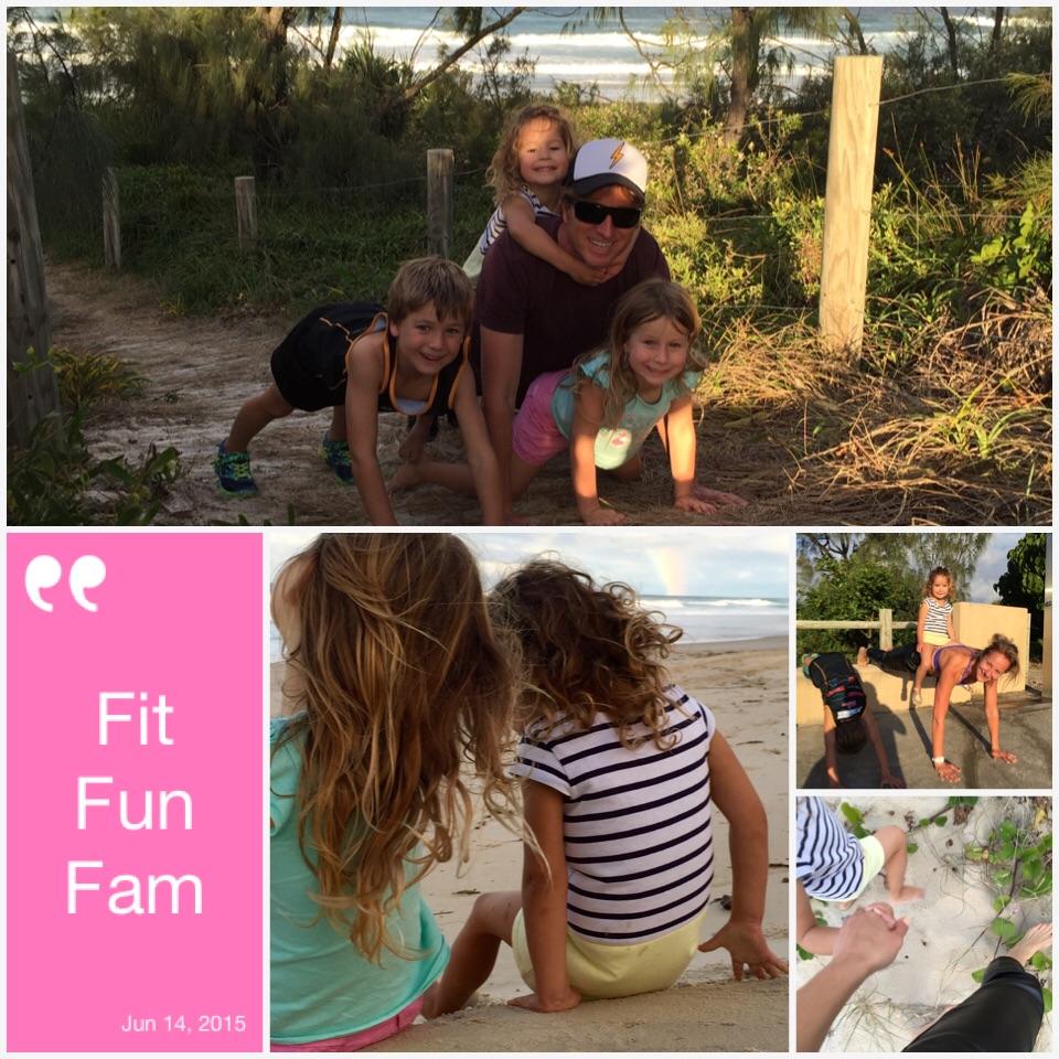 Family Fitness Fun Dani Stevens planking