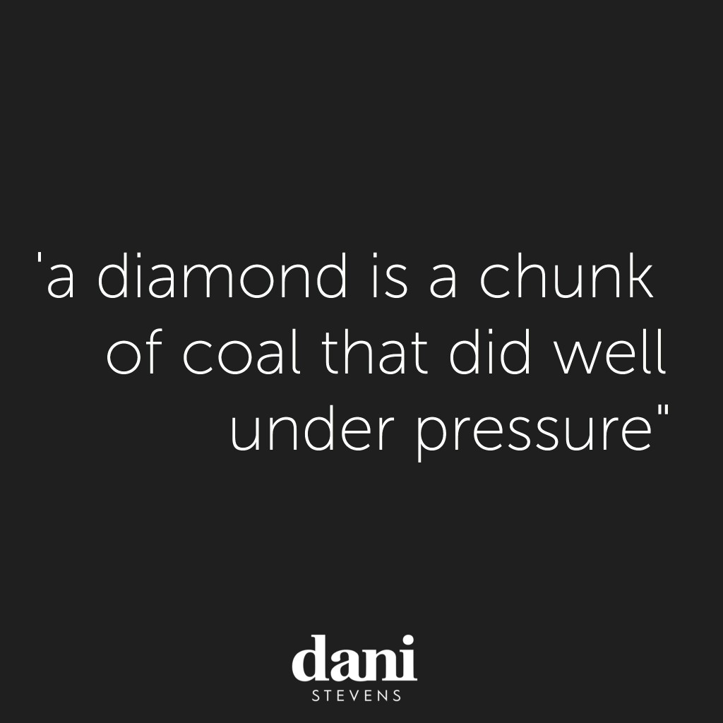 Dani Stevens Monday Motivation diamonds