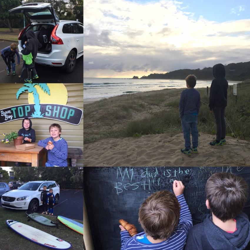 Dani Stevens Volvo XC60 surfing Saturday weeekend