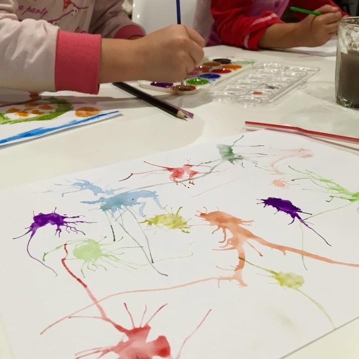 Dani Stevens kids water colours painting