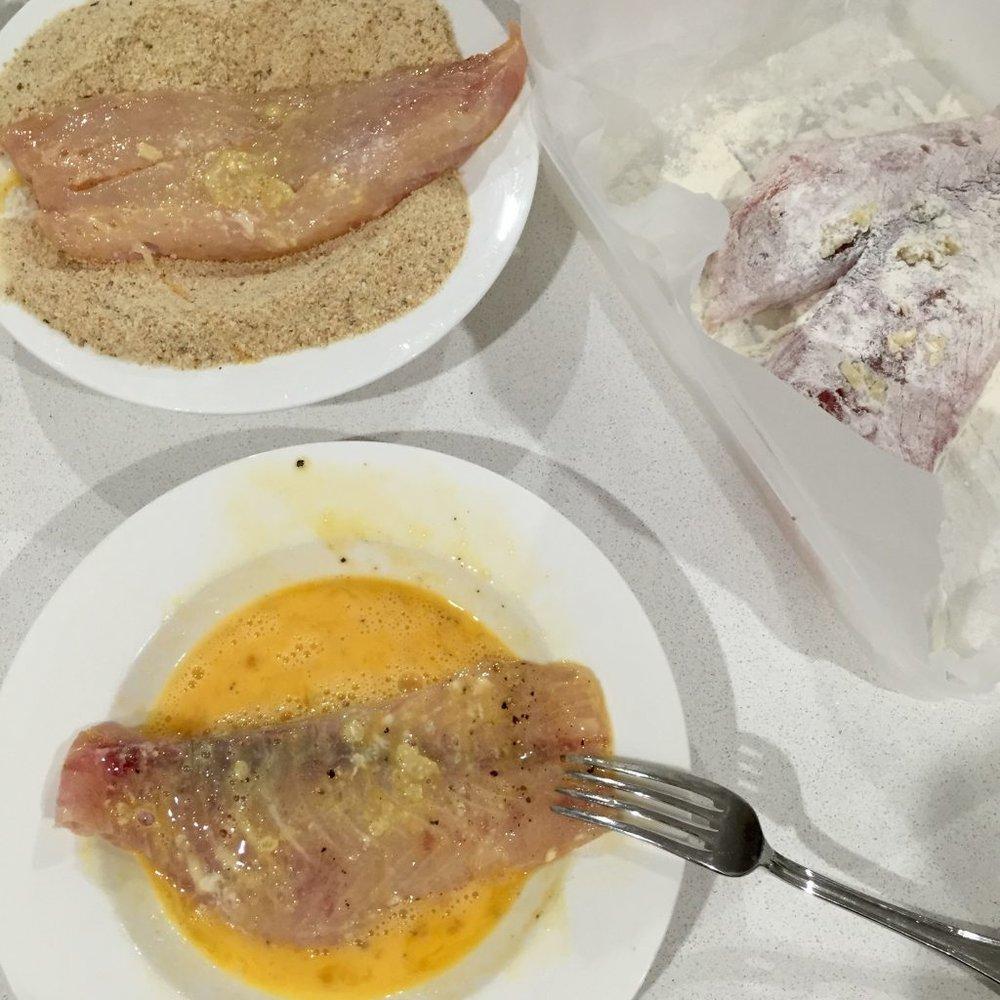 Battered fish tacos