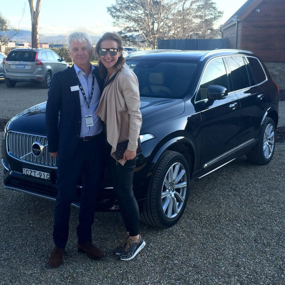 Lars Lagstrom and Dani Stevens Volvo XC90