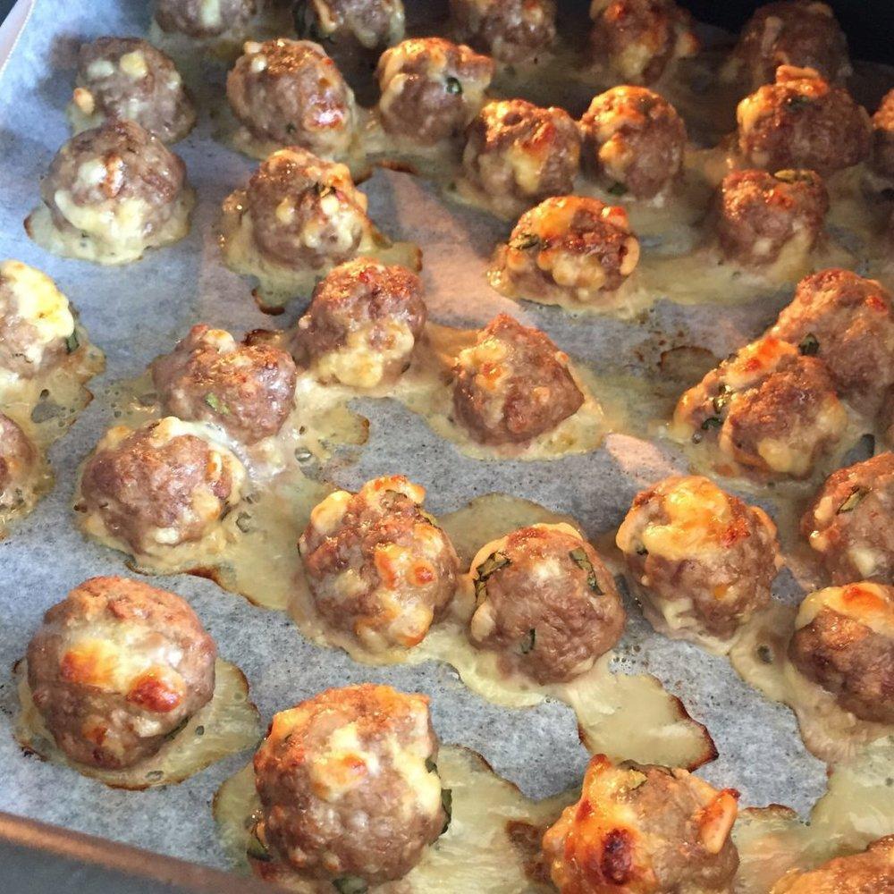 Mozzarella Meatballs Dani Stevens