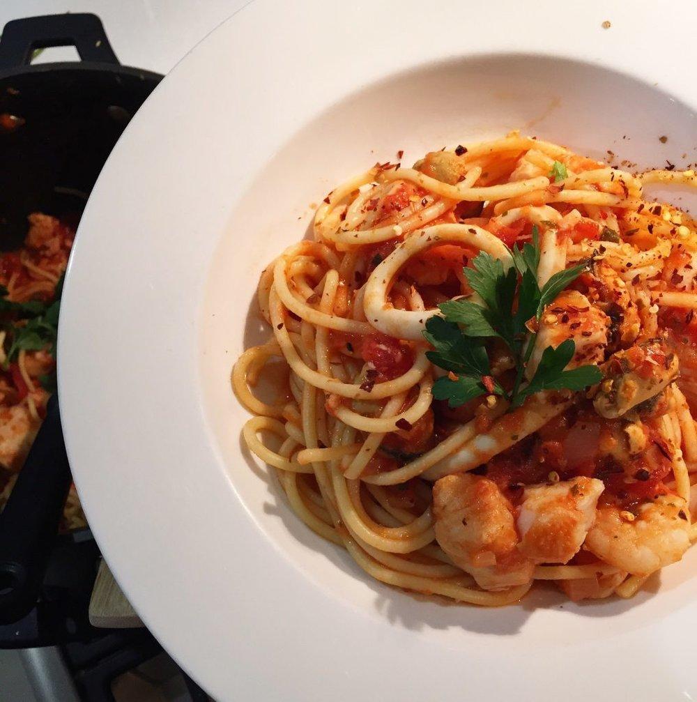 Spaghetti Marinara Dani Stevens