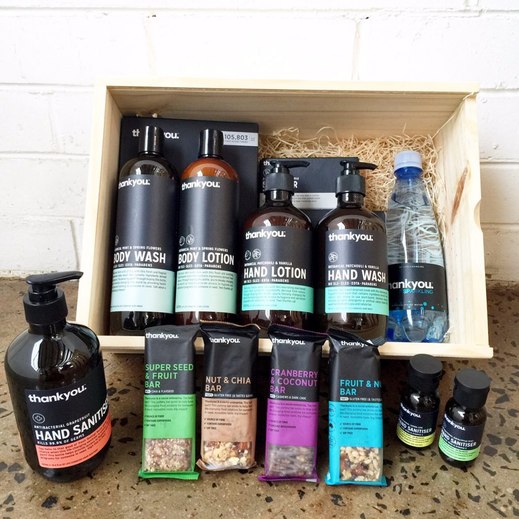Thank You hamper with Dani Stevens