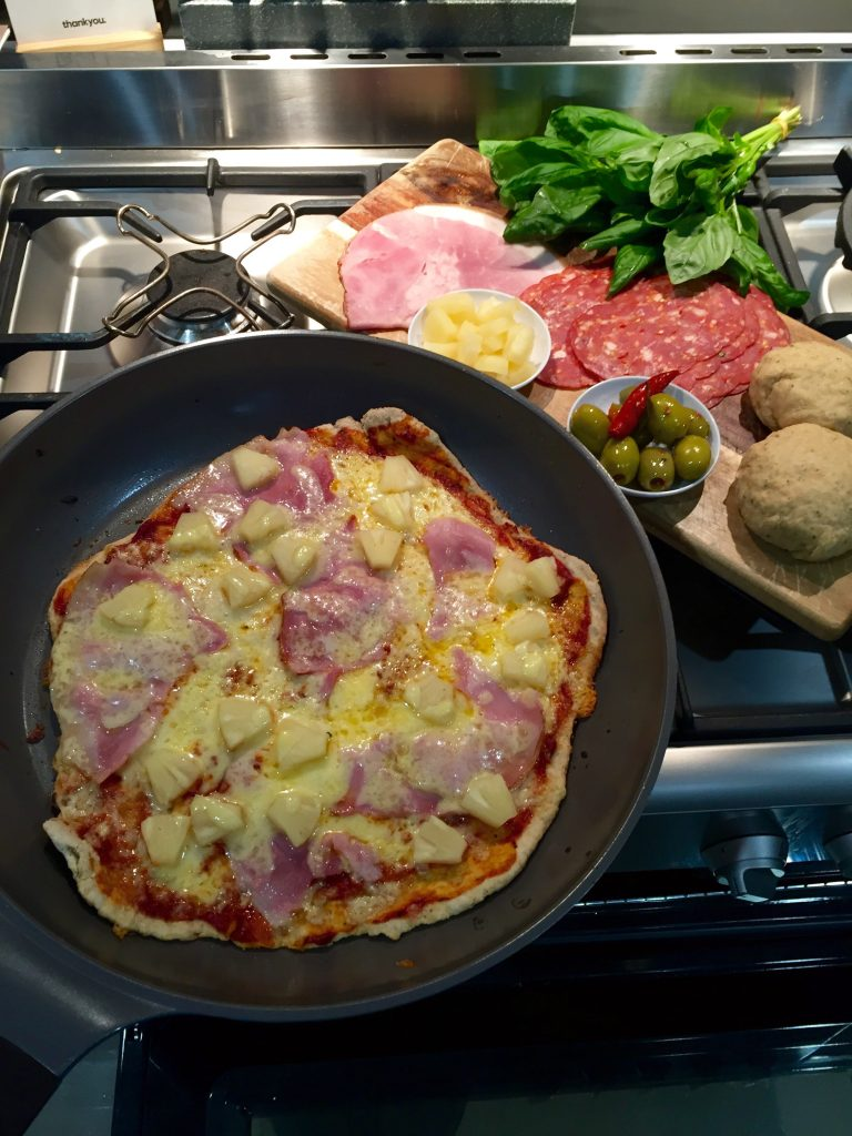 home made pizzas' dani stevens