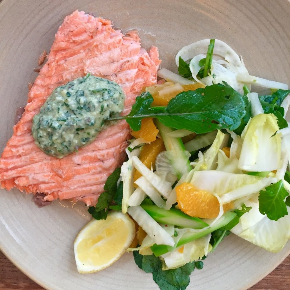 King Salmon fennel salad