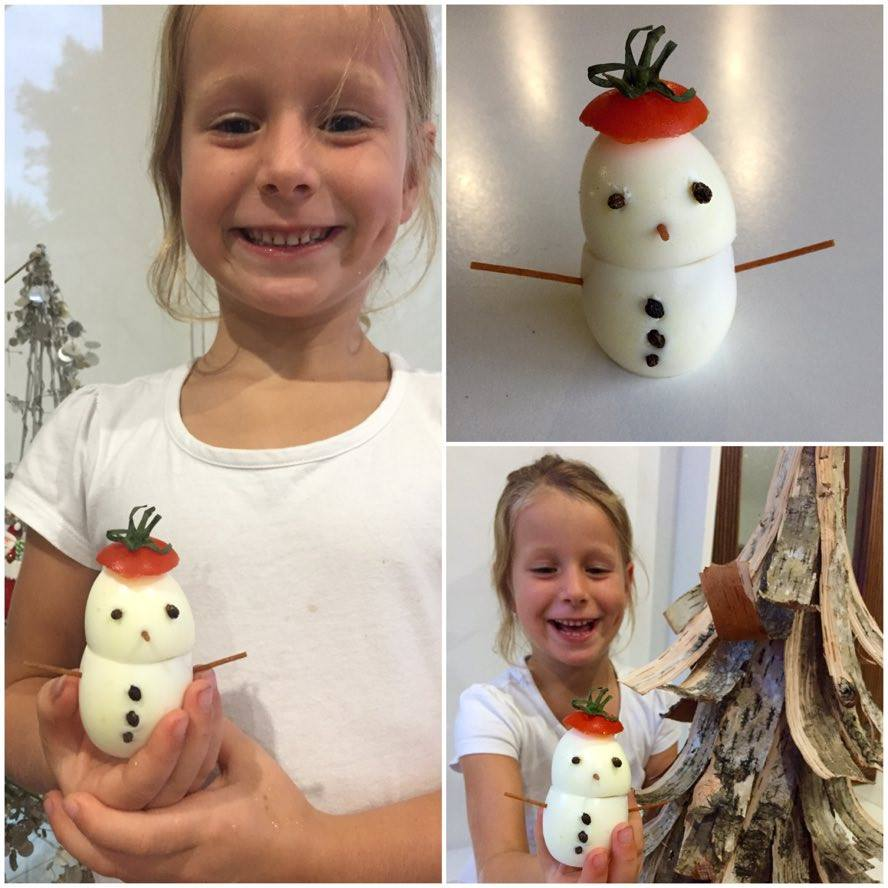 Dani's egg snowmen