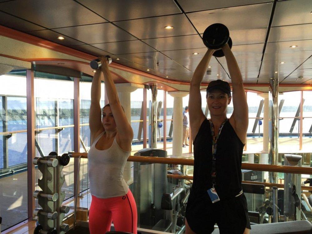 Dani Stevens cruise fitness tips
