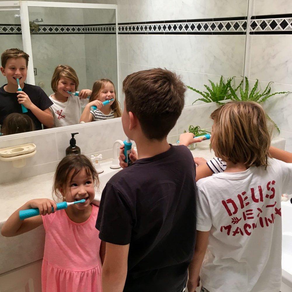Dani Stevens Philips Sonicare kids toothbrushes