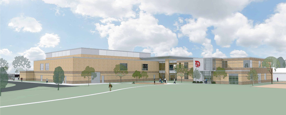 Architect's Rendering of Timothy's New Middle School & Field House