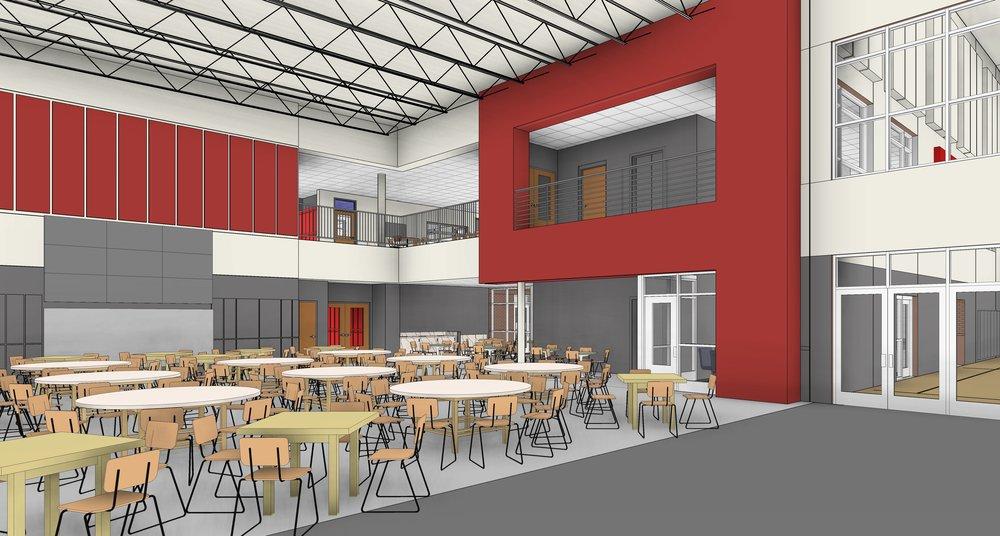 Middle school common area.