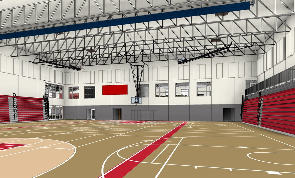 Project IMPACT field house with 1,200 seat capacity.