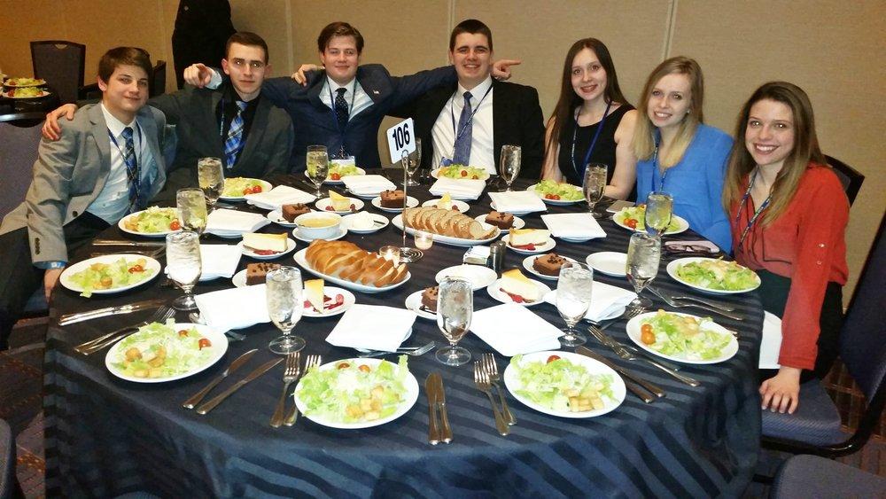 Left to Right: Trent Marrera, Joel Daniels, Noah Marrera, Joey Snella, CaraAnn Demonbreun, Eliana Sarver, Taylor Ryan