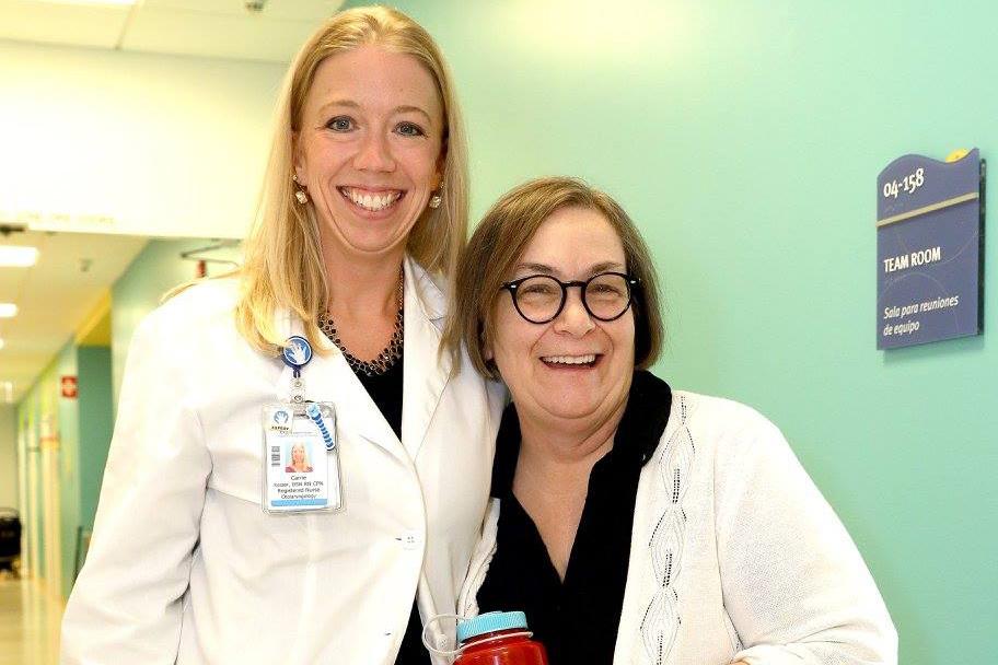 Carrie Jones (left) Photo Credit: Jan Terry, Lurie Children's Hospital