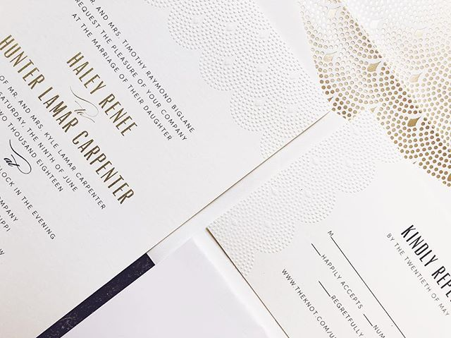 It's been a fantastic Thursday here at Forrest Paper and Bridal Co.! ✨ Currently revisiting this gorgeous Art Deco inspired invitation suite we created for the sweet Mr. + Mrs. Carpenter - and falling in love all over again!