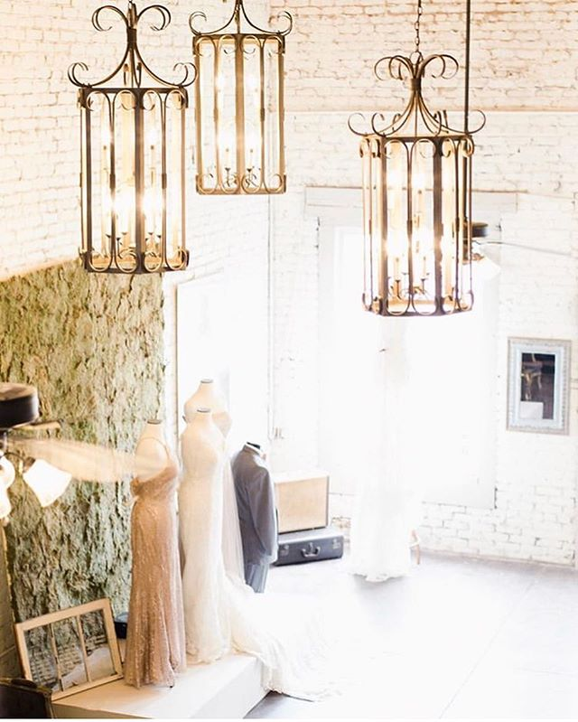The view from the bridal loft captured by @sheagibsonphotography 💕 Our brides love the coziness of our historic building and vintage furnishings, and the intimacy of our private upstairs fitting area; and WE love helping them find perfect gown!