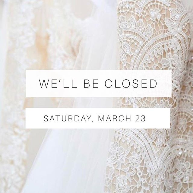 Dallas, here we come! ✨ The shop will be closed this Saturday, March 23, while we attend the Dallas Bridal Market and add to our fabulous bridal collection!